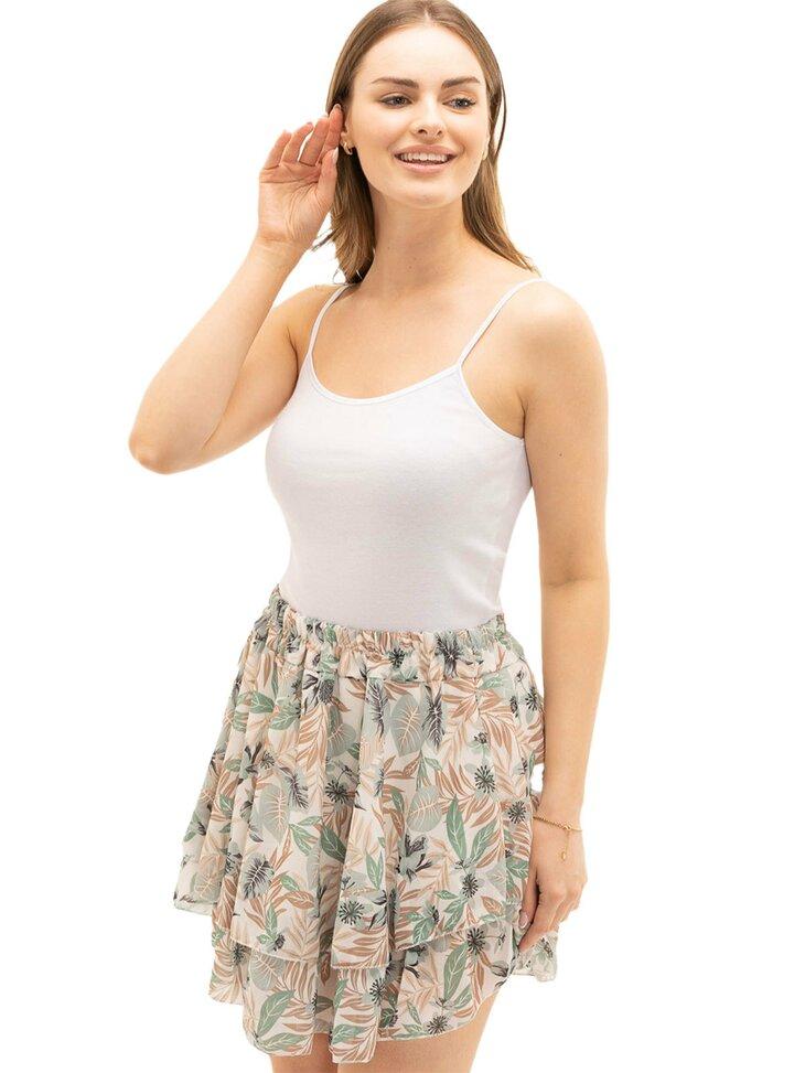 rozkloszowana spódniczka w kwiaty